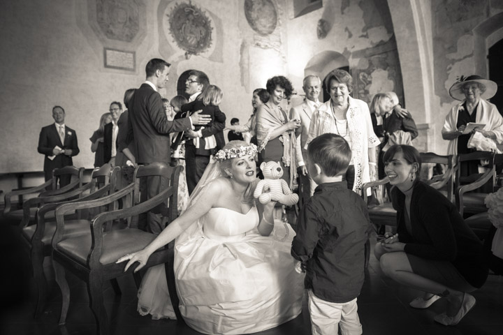 Wedding guests in Todi