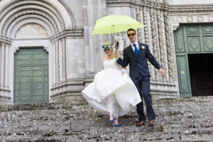 Wedding sunshine and showers