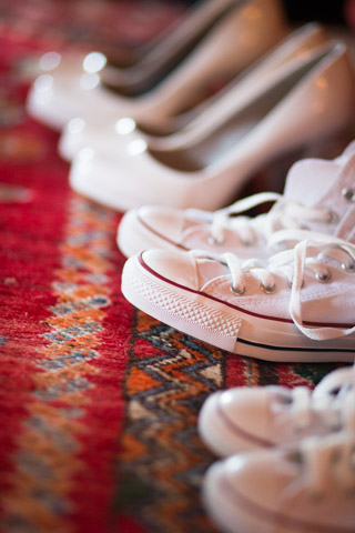 Bridesmaid's shoes and flower girls converse